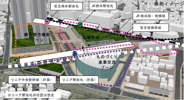 橋本駅南口(付近)にリニア駅が開設されます!